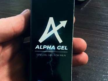 Тюбик Альфа гель для потенции в руке.